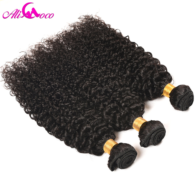 Ali Coco Hair Peruvian Curl Hair Bundles 1/3/ 4 PCS 100% Human Hair Weave Bundles Natural Color Non Remy Hair Extensions 4