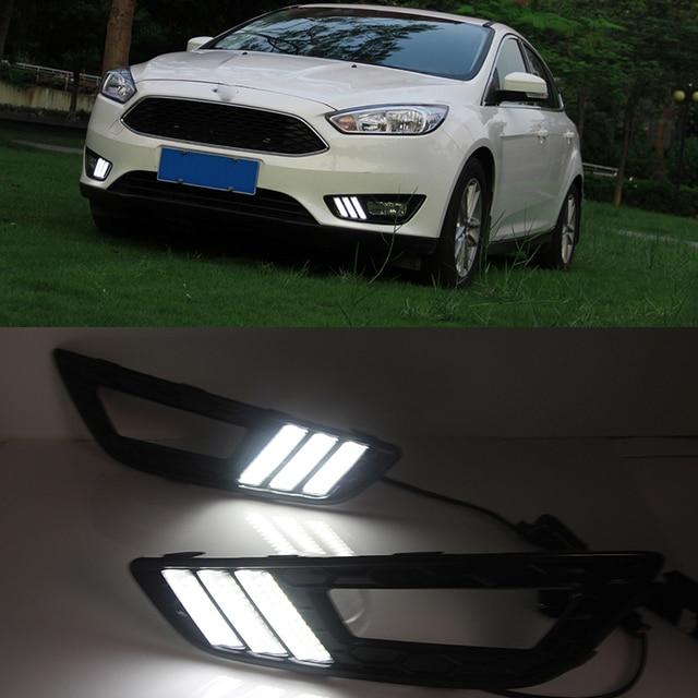 car flashing 1pair for ford focus 4 2015 2016 led drl daytime