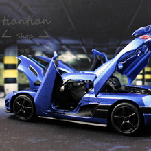 MZ 1:32 спортивный автомобиль моделирование Koenigsegg литого металла сплава Модель автомобиля детские игрушки украшения звук и свет