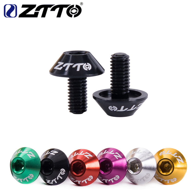 Ultralight ZTTO 2 pcs Bicycle Water Bottle Holder Mount <font><b>Bolts</b></font> <font><b>M5</b></font> <font><b>10mm</b></font> Screw Hex-headed to Install Bike Bottle Cage Rack 6 Colors image