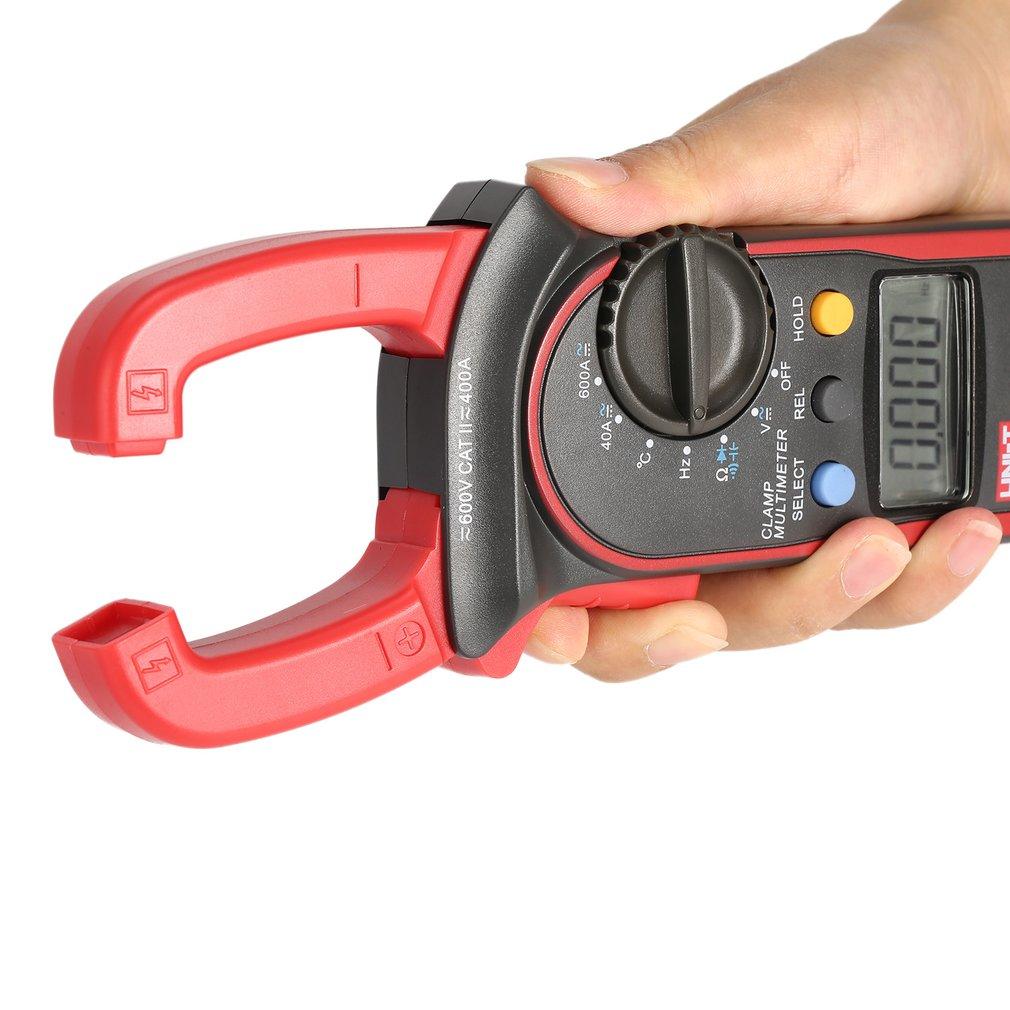 UT204A 4000 Counts Auto Range Digital Handheld Clamp Multimeter Volmeter with Auto Range DC/AC Voltage Current Temperature