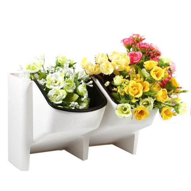 Top 2 Pocket Succulent Planter Wall Hanging Vertical Flower Pot Home/Garden  Indoor Flower Pot