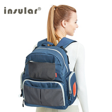 INSULAR Brand Mother Maternity Diaper Nappy Bag Large Capacity Baby Diaper Stroller Backpack Travel Mom Designer Nursing Bag цена и фото
