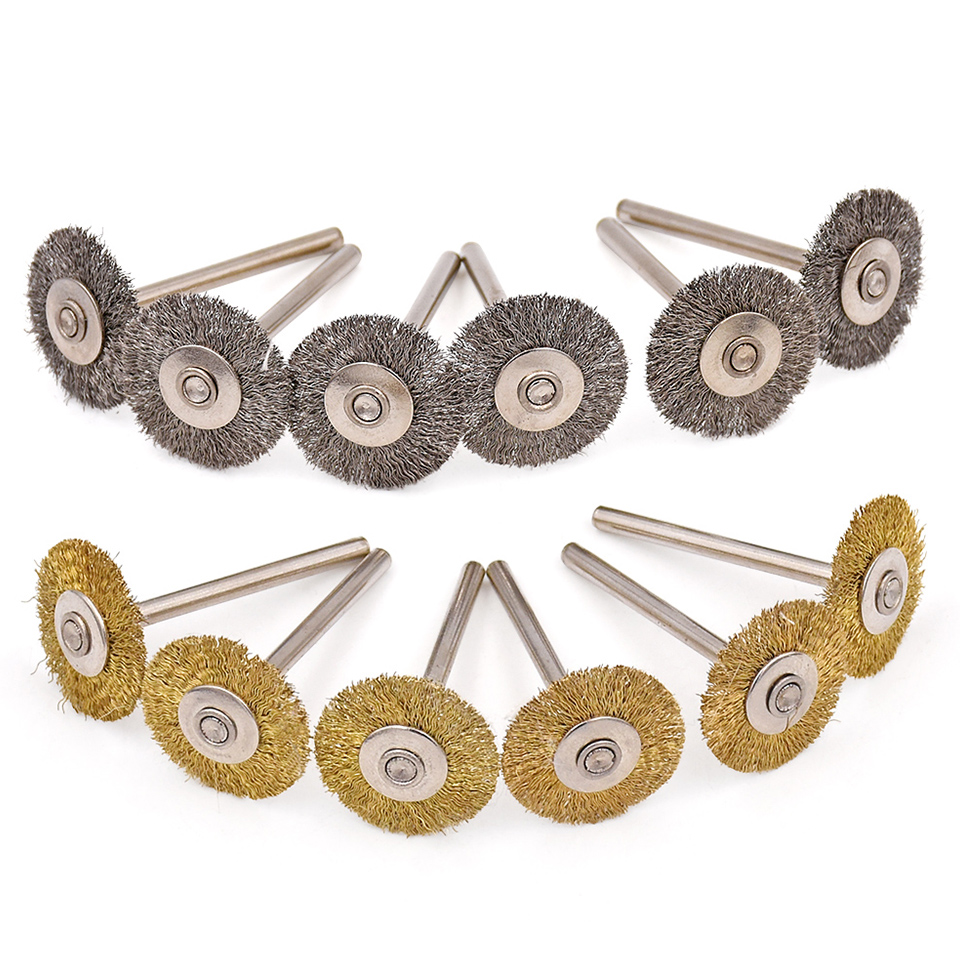 100pcs 22mm Rotary Brush For Dremel Wire Wheel Brushes Grinder Rotary Tool For Dremel Accessories for Mini Drill Polishing Tools стоимость