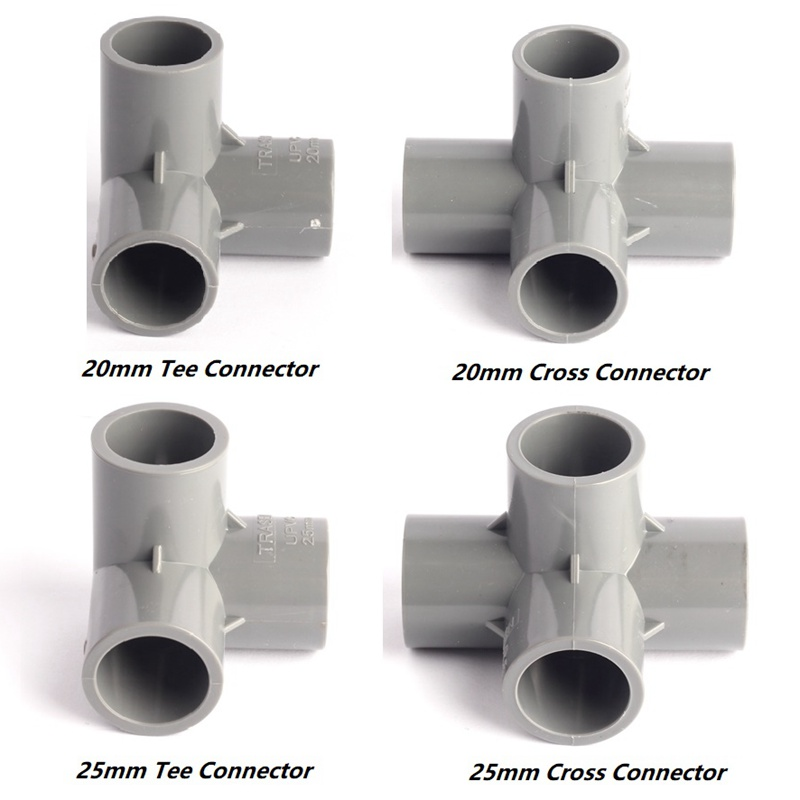 4 type inner 20 25mm 90 angel equal tee cross pvc for Types of plastic pipes
