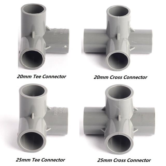 4 Type Inner 20/25mm 90 Angel Equal Tee/Cross PVC ...