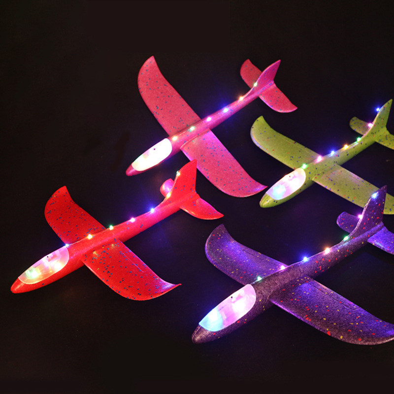 48cm Airplane Foam Toys Light Flying Mini Foam Throwing Glider Inertia DIY Aircraft Toy Hand Launch Airplane Model Toys image