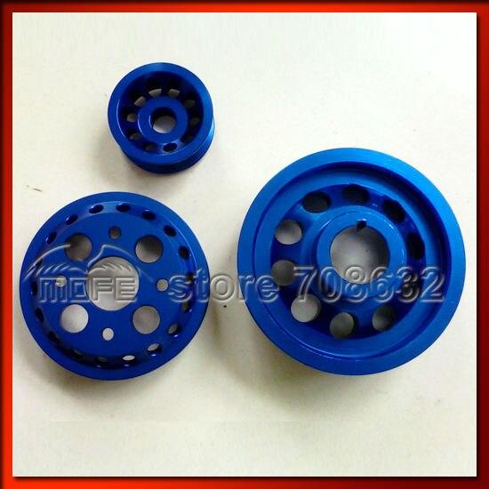 Underdrive Crank Pulley for Nissan Fairlady Z33 350Z VQ35DE 02-06 Blue  free shipping light weight crank pulley new for nissan skyline gtr bnr32 rb26 dett rb20 rb25 underdrive crank pulley yc100829