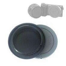 Черный, серый цвет Камера задняя крышка для объектива Кепки + передний корпус Кепки для Sony E Mount NEX 7 A6600 A1 A7C A7 A7R A7S A9 III Характеристическая вязко...