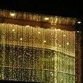 Ano novo! venda direta da fábrica 220 V RGB 300 LEDS 3 M * 3 M LEVOU Cortina Cachoeira Xmas Party Decoração Chistmas Luzes do feriado