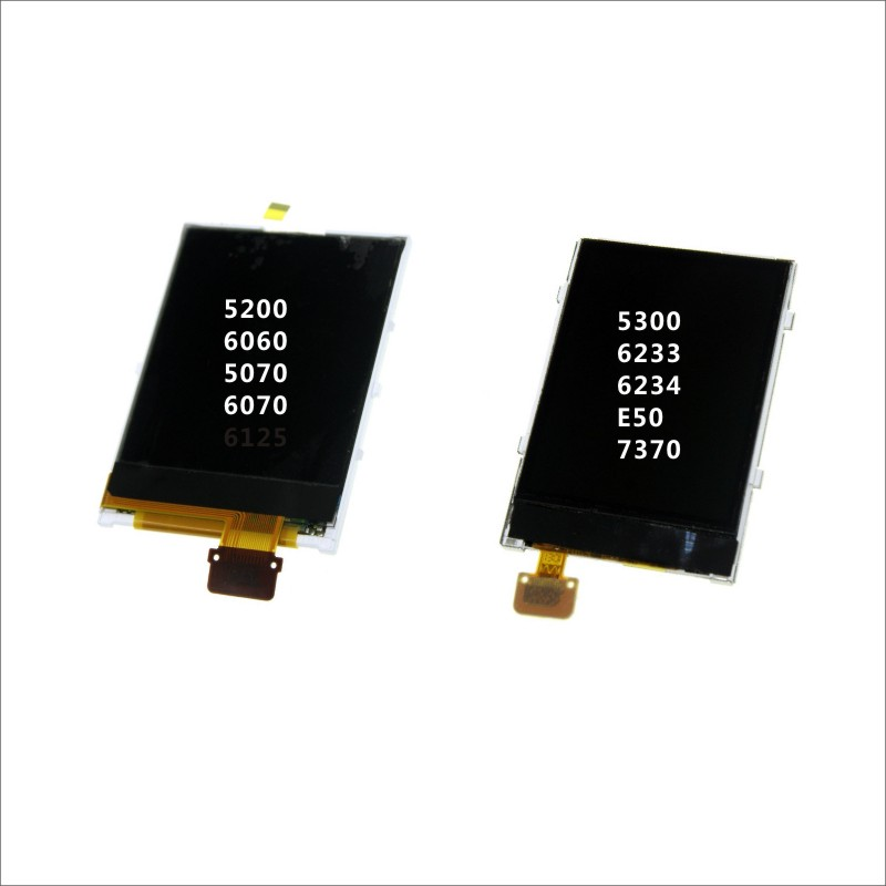 Lcd-Display 7370-Phone lcd-Screen 5300 Mobile-Phone 6060 Nokia Digitizer for 5200/6060/5070/.. title=