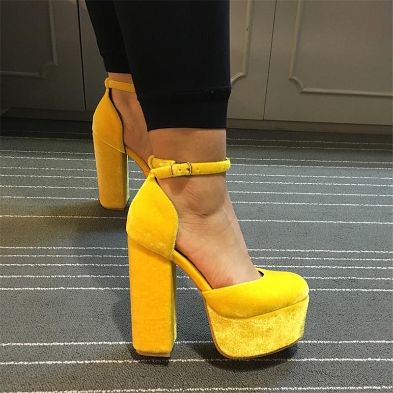 Aliexpress.com : Buy 13cm High Heels Buckles Shoes Woman Platform ...