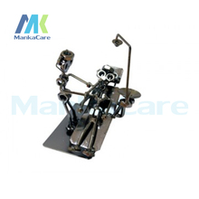 Artware Dentsit handicraft Metal Dentist Sculpture Dental clinic decoration furnishing articles Creative gifts Artwork