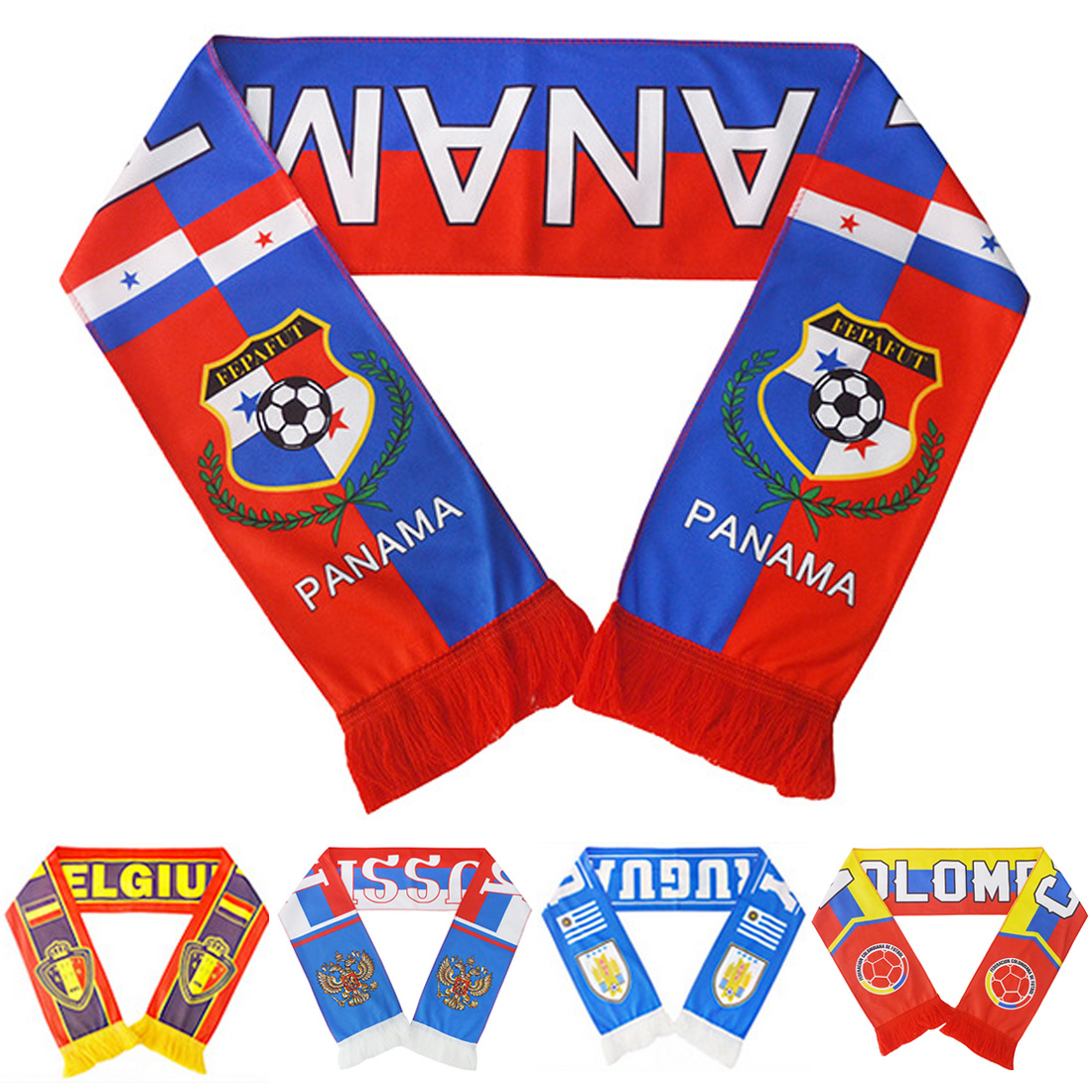 1 PC Football Scarf Soccer Ball Fan Scarf Bola De Futebol 12 Teams Flag Banner Futebol Cheerleaders Scarf