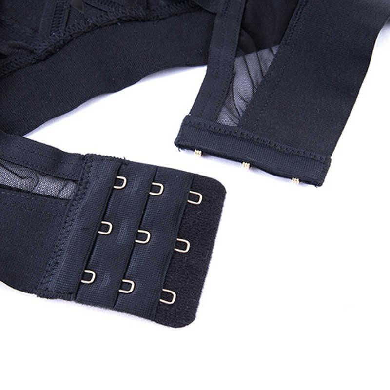 Wriufred Ultra-Tipis Berongga Keluar Seksi Pakaian Dalam Wanita Tali Bahu Lebar Bra & Set Singkat Baru Kawat Gratis Bra set Plus Ukuran