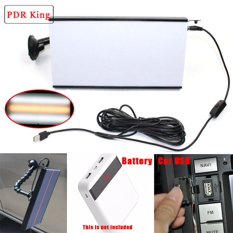 PDR KING Tools LED Light Paintless Dent Repair Hail Removal 3 Strips Car Body Lamp