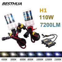 2Pcs H1 55W Xenon HID Light 4300K 6000K 8000K Auto Headlight Bulb Slim Ballast 55W HID