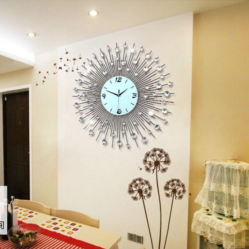 3d Grande Horloge Murale Design Moderne Décor à La Maison Mur