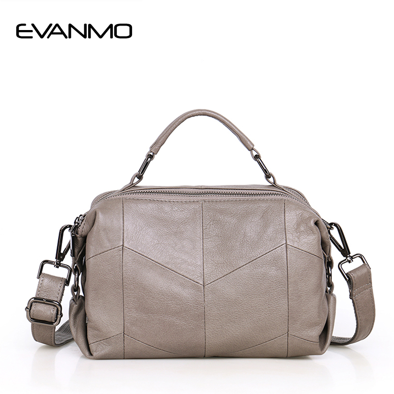 Designer Quality Cowhide  Wedding Bags Women Genuine Leather Handbags Bag Boston Black Shoulder Female Top-handle Messenger Bag chispaulo women bags brand 2017 designer handbags high quality cowhide women s genuine leather handbags women messenger bag t235
