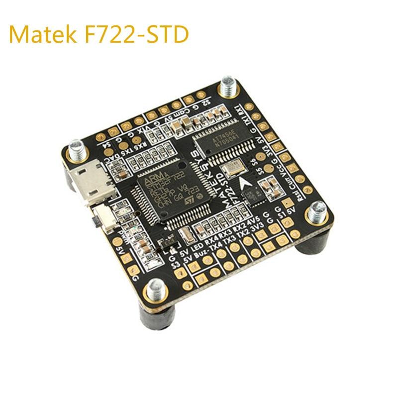 Matek Systems F722-STD F722 STD STM32F722 Flight Controller Built-in OSD BMP280 Barometer Blackbox for RC Models Multicopter f722 f7 v1 upgrade version f4 flight control with osd barometer