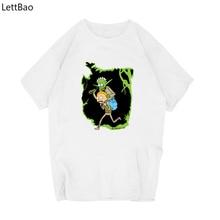 Cartoon Funny Yoda & Morty Novelty White Anime T Shirt Short Sleeve Graphic T Shirts Men O Neck Casual Cute Ropa Hombre De Marca