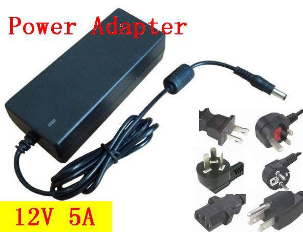 Free shipping 50pcs/lots 12V 5A Switching power supply, 60W SMPS ...
