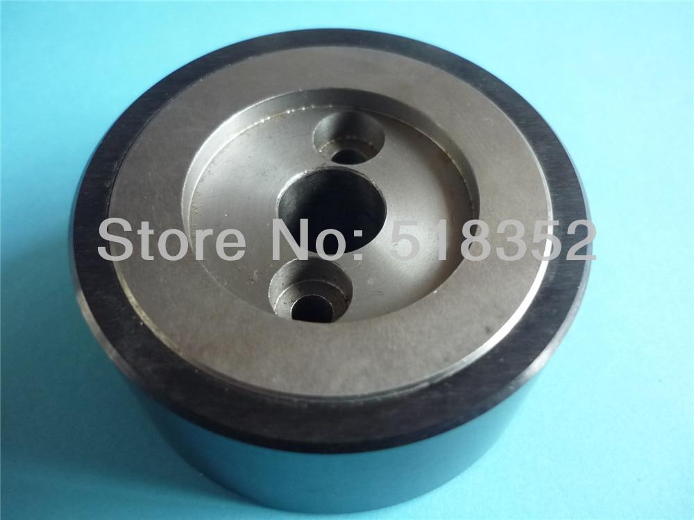 X055C009G51 M410C Mitsubishi Black Ceramic Capstan Roller OD57mmx T25mm for FA (AT) WEDM-LS Machine Parts x054d412g53 m404c mitsubishi black ceramic capstan roller od57mmx t25mm for wedm ls wire cutting wear parts