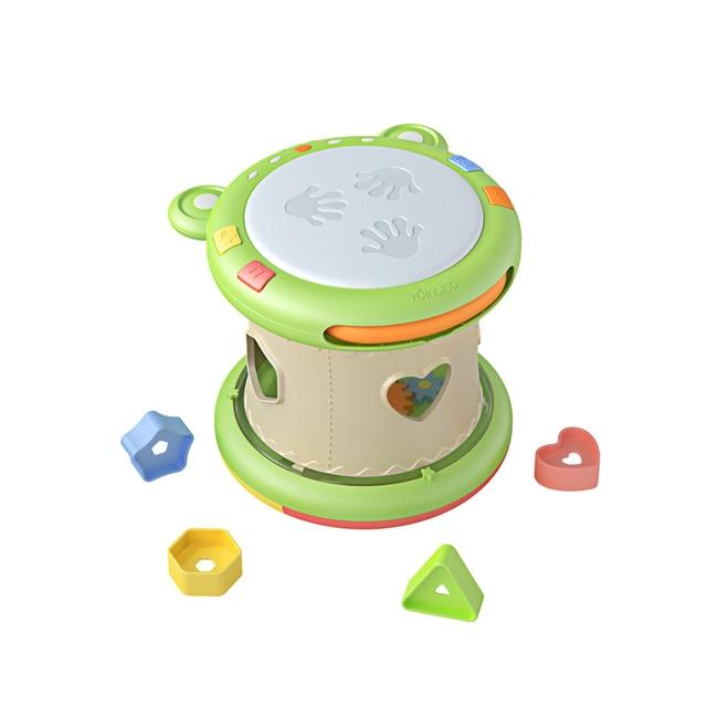 Colorato bambini bambini bambino tamburo giocattolo musicale strumento a T1U3