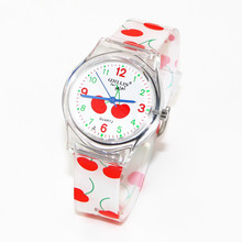 New Cherry Pattern Design Girl Quartz Watch Student Dress