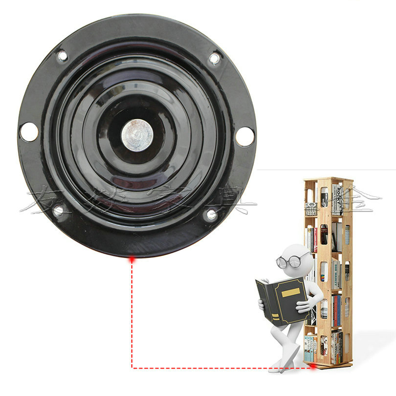 HQ 10(250MM Diameter) 2.3MM Thick A3 Steel Round Turntable Bearing Swivel Plate Lazy Susan with 9.5MM*64 Full Bearing Balls