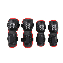 4Pcs Kit Adult Elbow Knee Shin Armor Guard Pads Protector Support Guard for Motorcycle Bike Cycling Skating