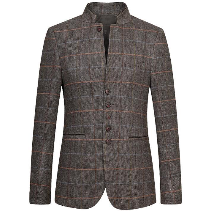 great fit 4e249 ff933 Slim fit giacca sportiva degli uomini del vestito di tunica ...
