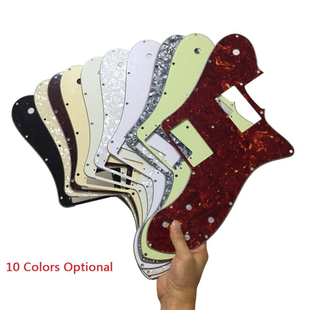 1pcs Mexico 72 ReissueRI Tele Deluxe Style Guitar Pickguard Scratch Plate wScrews Guitar Parts Replacement ,Optional Colors