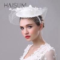 Haisum Moda Mulheres Fascinator Grampos de Cabelo Acessório Fascinator Chapéus Do Partido Acessórios Para o Cabelo Flor de Noiva fedoras HN44