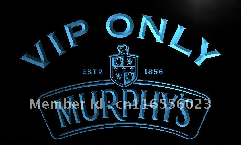 la486 vip only murphy s beer ale led neon light sign home decor crafts