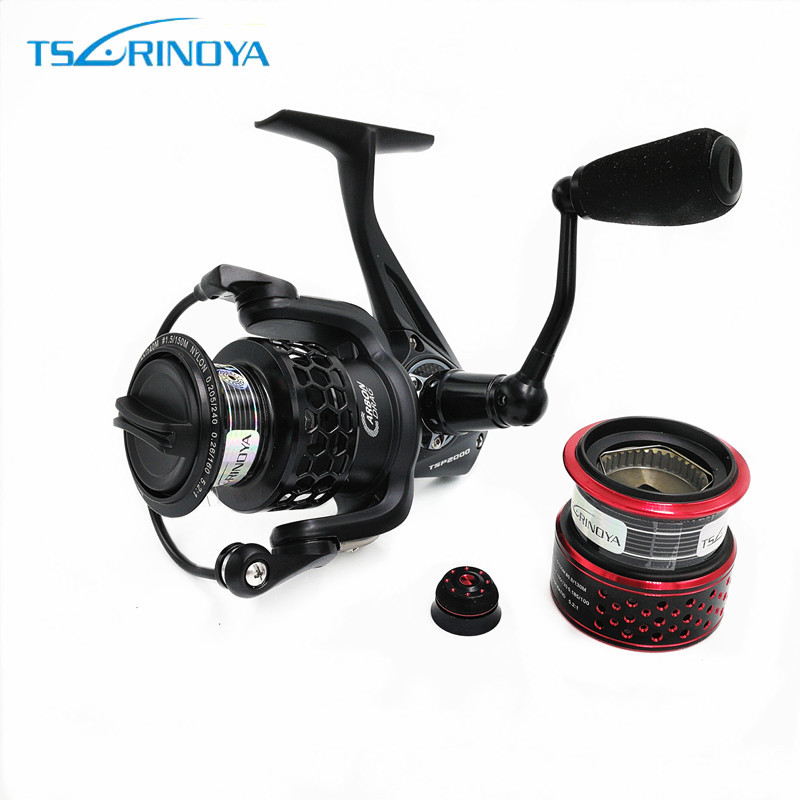 TSURINOYA SPIRIT TSP2000 High-strength aluminum alloy body 12 Bearing Spinning Fishing Reel Fishing Reel With Spare Spool