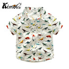 Kimocat new children carter fashion blusas Summer boys cute dinosaur casual shirt