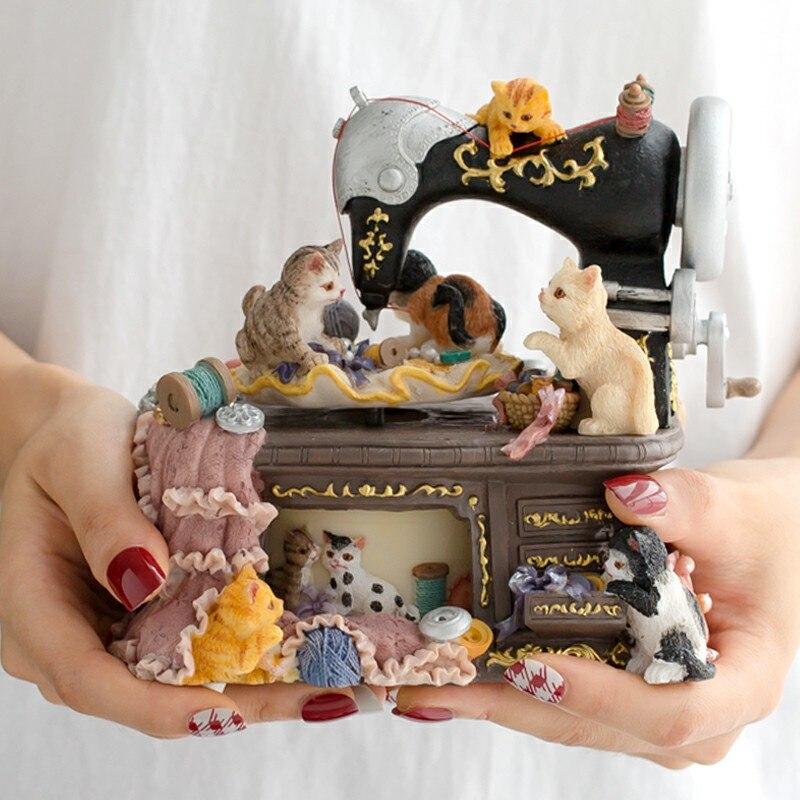 Машина кот музыкальная шкатулка Мультфильм Музыкальная шкатулка восстановление древних способов обязуется Девочки Рождественский подаро...