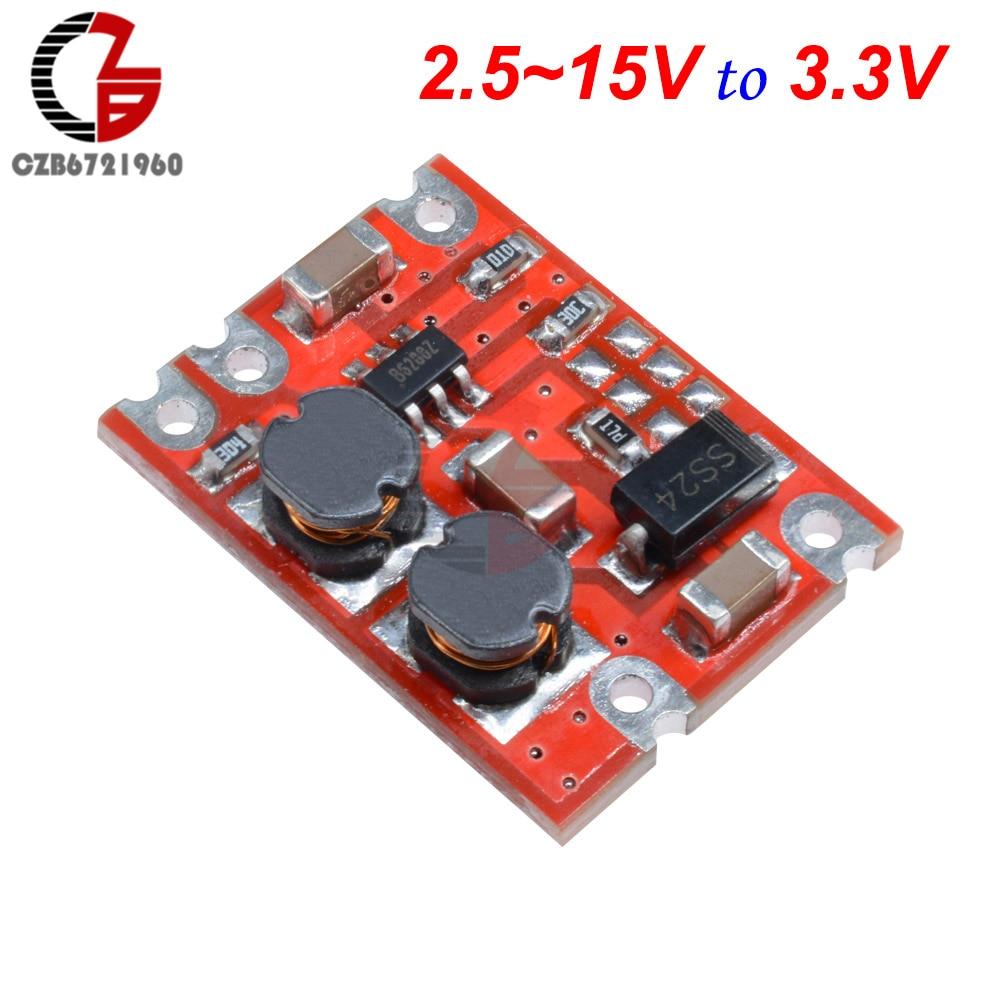 DC-DC модуль преобразователя с автоматическим повышением напряжения постоянного тока 2,5-15 В постоянного тока 3,3 В 4,2 в 5 в 9 в 12 В понижающий регулятор напряжения инвертор питания - Цвет: 3.3V