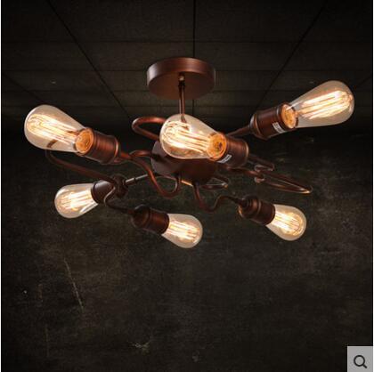 Rétro Style Loft Industriel LED plafonniers € Manger Salon Lumi¨res