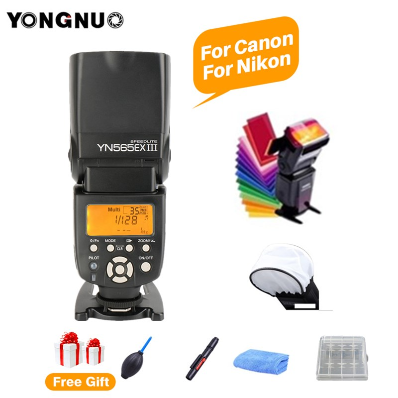 YONGNUO YN565EX III TTL แฟลช Speedlite สำหรับ Canon 1100d 650d 600d YN565EX สำหรับ Nikon D3300 D3100 D5200 D800 D750 D7100 กล้อง-ใน แฟลช จาก อุปกรณ์อิเล็กทรอนิกส์ บน AliExpress - 11.11_สิบเอ็ด สิบเอ็ดวันคนโสด 1