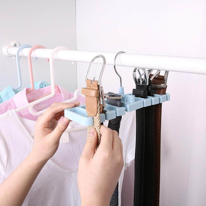 Hot Multifunctional Hook Organizer Holder Rack Storage Hanger Wardrobe Belt Tie Scarf Storage Rack LS AU03 in Hanging Organizers from Home Garden