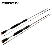 DAGEZI Lure Fishing Rod M Power Fast Action Carbon Baitcasting Wheel Rod Lure Rod 1 8M