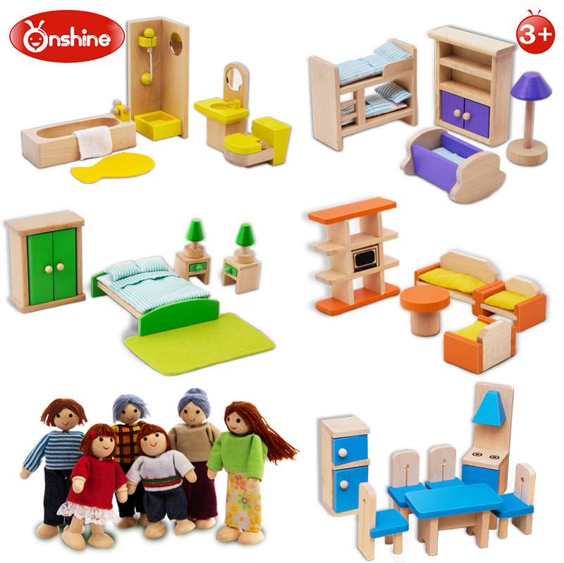 Kids Bedroom Furniture Kids Wooden Toys Online: Onshine Simulation Room Furniture Toys Wooden Doll
