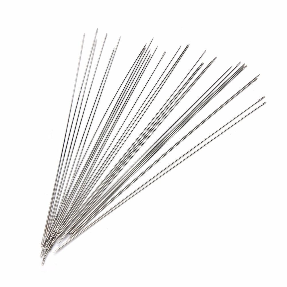 30Pcs 120mm Beading Needles Threading String/Cord Jewelry Tool Tweezers Vise Glue Gun Pliers Ring Sizer Graver Jewelry Tools
