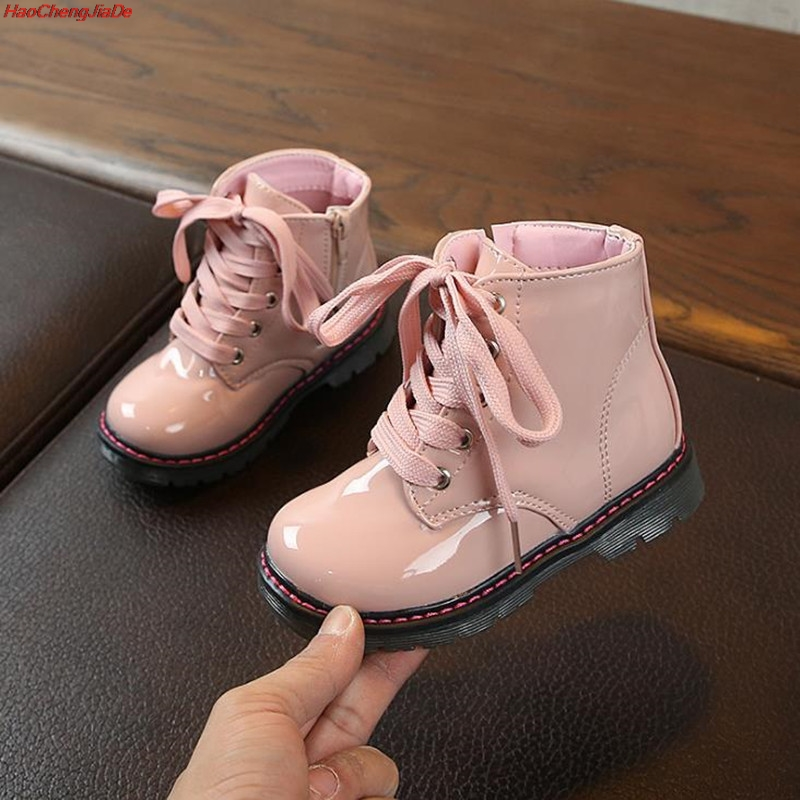 Autumn Winter Children Boots PU Leather Comfortable Boys Girls Baby Shoes Ankle Snow Boots Kids Leather Shoes For Tenis