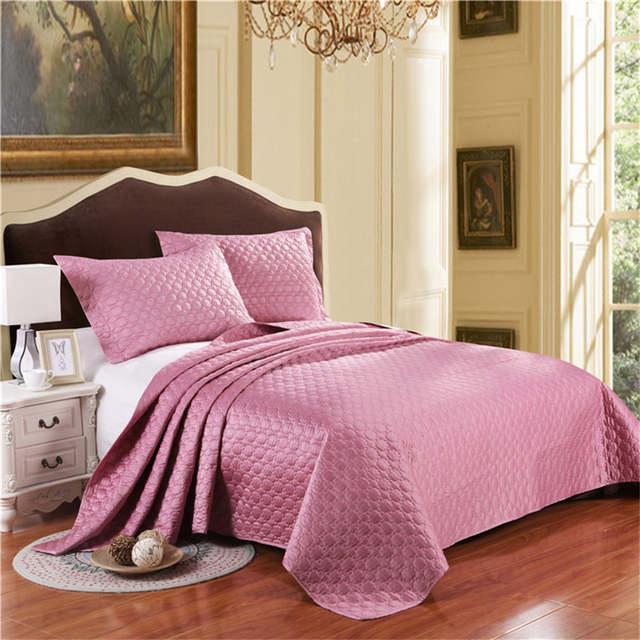 Têxtil de casa cinza prata rosa edredom cobertor de cama king size 3 pcs  colcha colcha 94abac6859d41