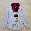 Los Niños de la marca Suéteres de Primavera Ropa Niñas Otoño 100% Prendas de punto de Algodón muchachas de Los Cabritos pullovers cálidos lindo abrigo ropa de las muchachas