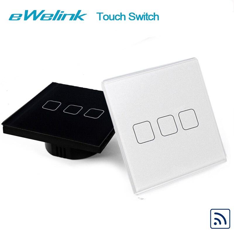 EWelink EU/UK Estándar Táctil Interruptor de la Luz, Panel de Vidrio de cristal