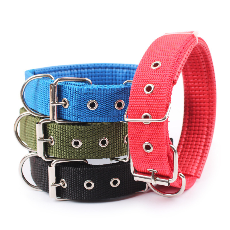 Pet Dog Collar Length Layer Super Comfort Dog Leash Cotton Nylon Strap For Small Cat Large Dogs  Collars Retractable S M L